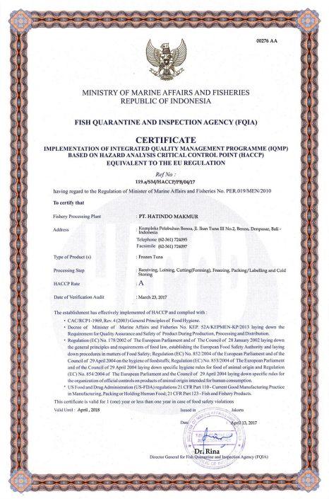 HACCP-Certificate-Frozen-Tuna-2017-1-PT-Hatindo-Makmur-Indonesia